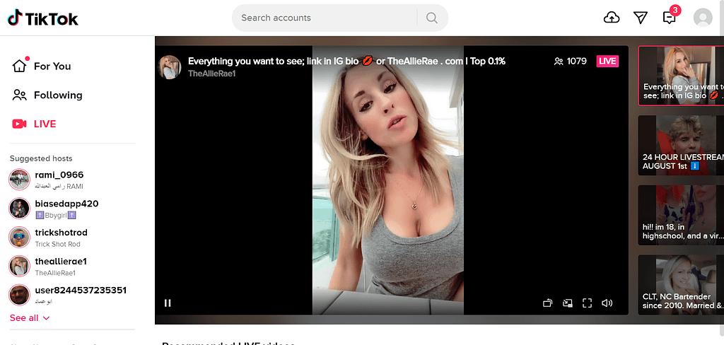 Organic Marketing TikTok Live Screenshot