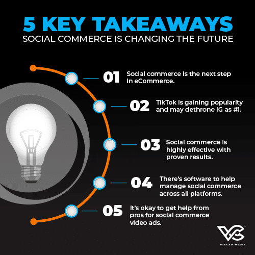 5 Key Takeaways Social Commerce Changing Future Infographic