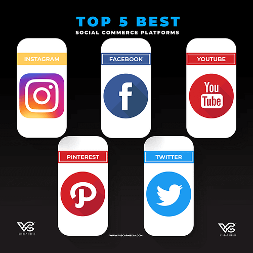 Top 5 Best Social Commerce Platforms Infographic