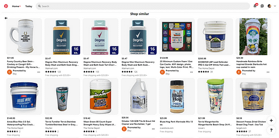Social Commerce Article Pinterest Other Products Page
